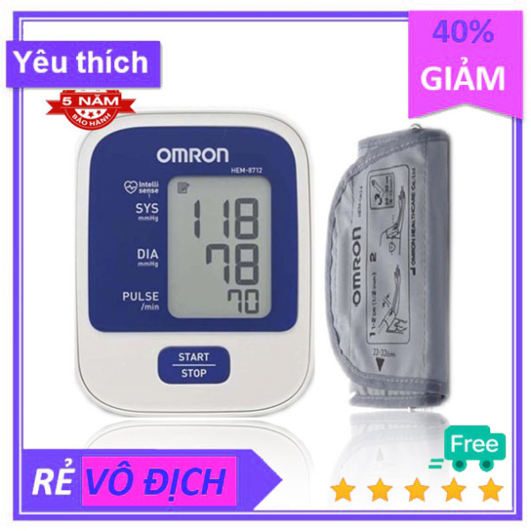 Máy đo huyết áp bắp tay tự động Omron HEM-8712 bán chạy