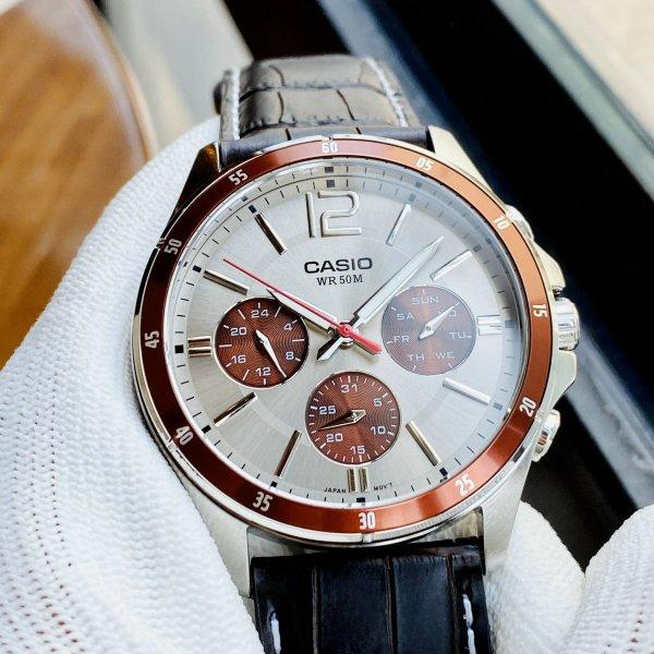 Đồng hồ nam dây da Casio MTP 1374L-7A1 Bảo hành 1 năm- Pin trọn đời Hyma watch