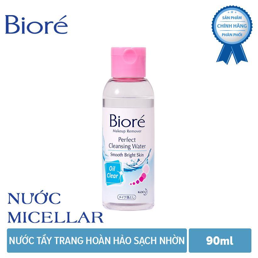 Nước Tẩy Trang Hoàn Hảo Sạch Nhờn Biore Makeup Remover Perfect Cleansing Water Oil Clear 90ml chính hãng