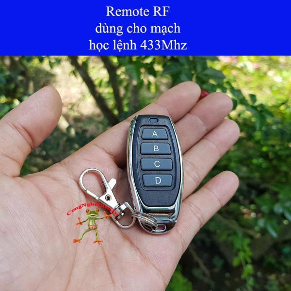 Remote 4 nút  RF 433Mhz điều khiển từ xa inox chống nước