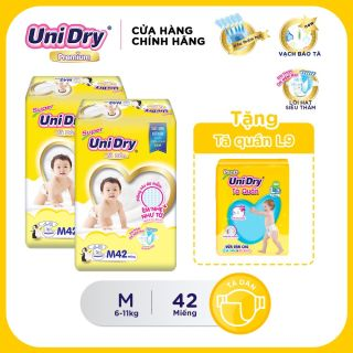 (Tặng 1 gói tã quần size L9) Combo 2 tã dán Unidry size M (42 miếng) thumbnail
