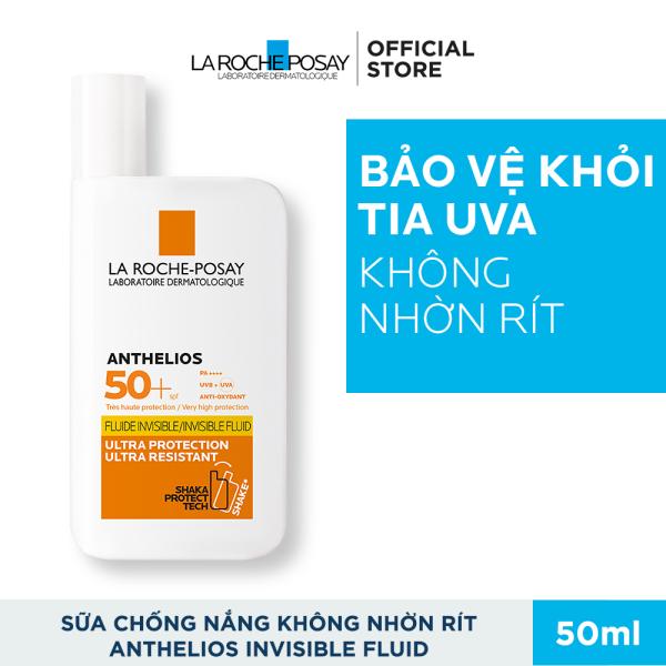 Kem chống nắng dạng sữa lỏng nhẹ không nhờn rít La Roche-Posay Anthelios Invisible Fluid SPF 50+ 50ml nhập khẩu