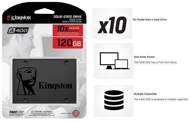 Tiết Kiệm Cực Đã Khi Mua Ổ CỨNG GẮN TRONG SSD 120GB KINGSTON SATA III , A400 FULL BOX, BẢO HÀNH 3 NĂM