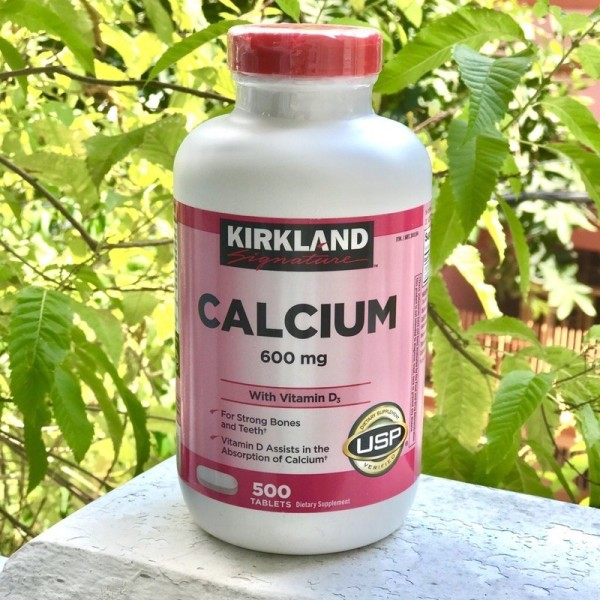 🌷🌸Viên Uống Kirkland Calcium 600Mg With Vitamin D3 Của Mỹ 500 Viên🌸🌷 cao cấp