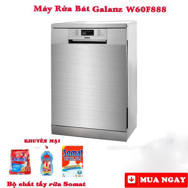 Máy rửa chén bát 14 bộ Galanz W60F888 Khuyến mại bộ chất tẩy rửa
