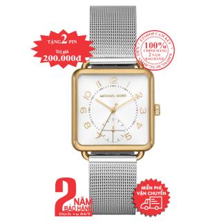 Đồng hồ nữ MK MK3846 mặt vuông, size 31mm , vỏ màu Vàng (Gold), mặt màu Bạc (Silver)- Model no MK3846 thumbnail