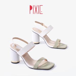 Sandal Gót Vuông 7cm Phối Màu Pixie X762 thumbnail