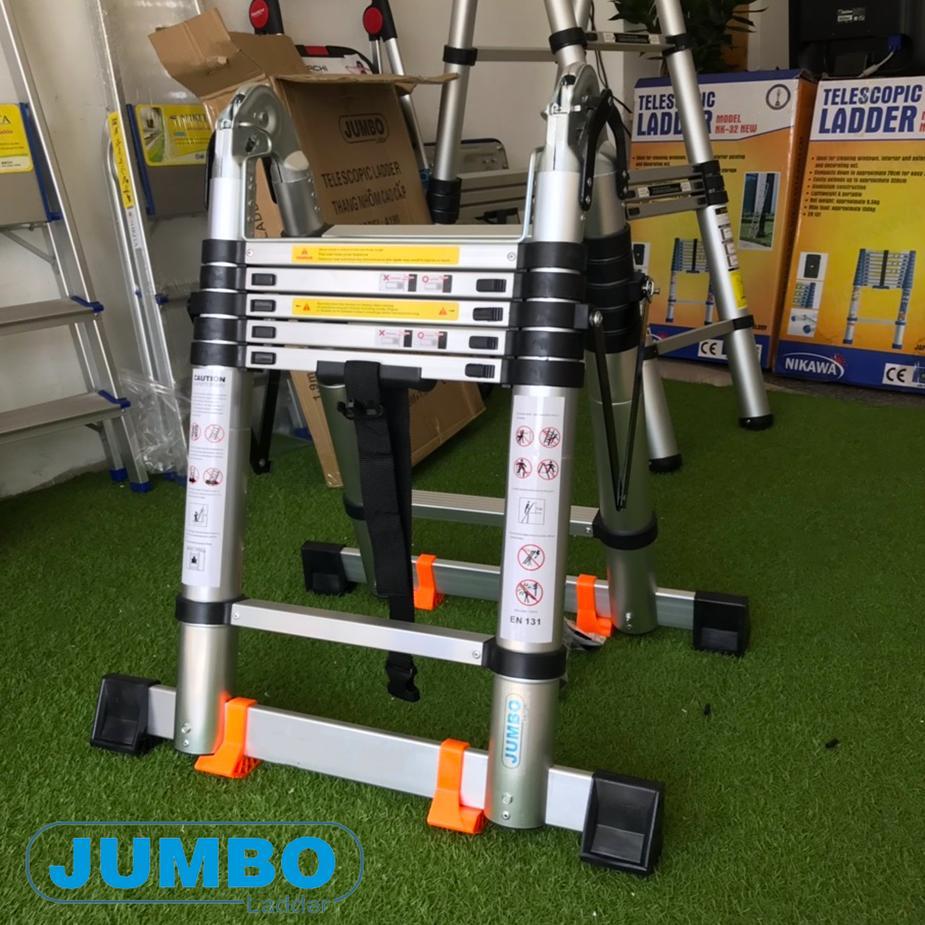 Thang nhôm rút đôi chữ A Jumbo A190 - 3,8m