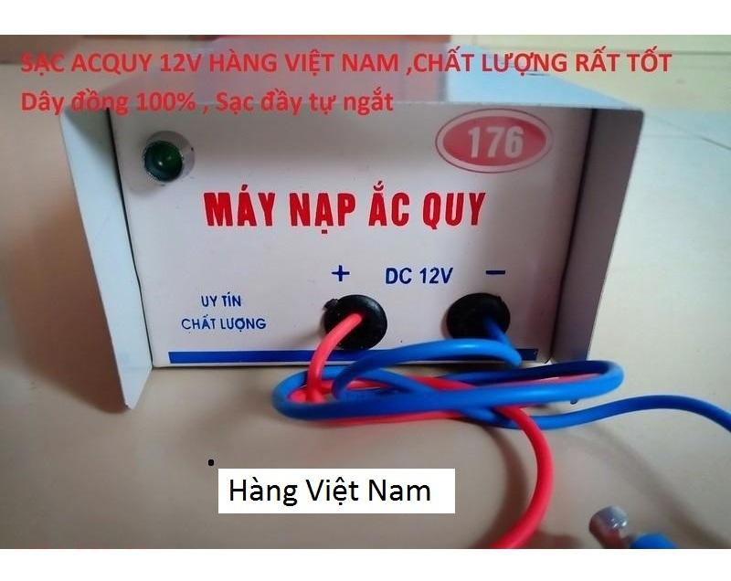 Sạc Acquy 12V Tự Động Ngắt khi đầy bình công Suất thực - Hàng Cao Cấp.việt nam