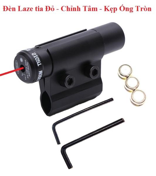 Đèn Laze kẹp ống Tròn - Bút Laze Tia Đỏ có chỉnh tâm Trái / Phải