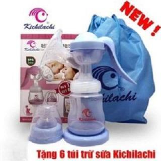 Máy Hút Sữa Bằng Tay KICHILACHI tặng kèm 06 túi trữ sữa thumbnail