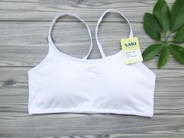 [HCM]Áo lót lá thun cotton saki có mút - AOLA09