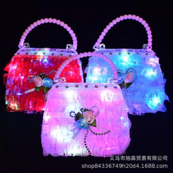 Giá bán Túi xách nhỏ đèn LED phát sáng cho bé gái chơi chợ đêm, trung thu, lễ hội