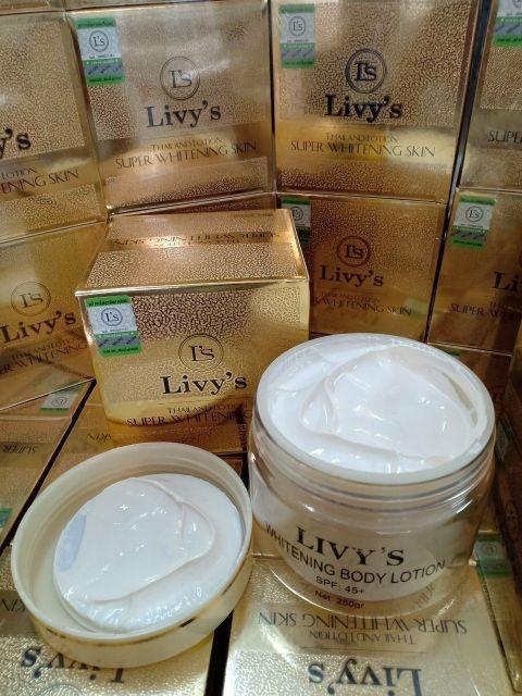 kem body dưỡng trắng da livy's thái lan 250gr