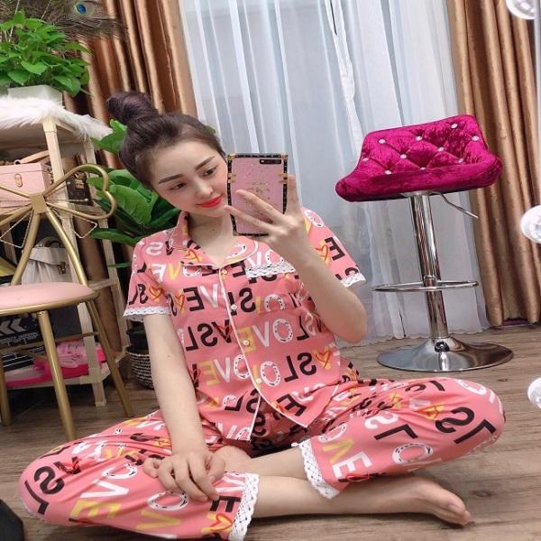 [TẶNG 01 CÁI KHẨU TRANG VẢI SU]Bộ đồ pijama mặc nhà| Bộ pijama kate lụa siêu đẹp
