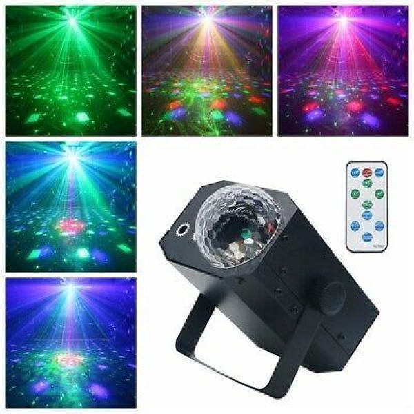 Đèn Vũ Trường Cảm Ứng Nhạc 16 and 1 Laser Magic Ball Thiên Mã