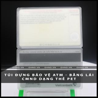 BAO đựng CAO cấp SU hào chống trầy xước thẻ căn cước CMND , ATM, Bằng lái xe , Thẻ sinh viên, nhân viên dạng thẻ PET 3