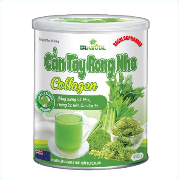 Sữa Bột Cần Tây Rong Nho Collagen - Giúp Giảm Cân An Toàn, Hiệu Quả,Đẹp Da, Mờ Nám, Thải Độc Gan, Phòng Ngừa Ung Thư Và Tăng Cường Sức Khỏe - Sữa Bột Cần Tây Rong Nho Collagen