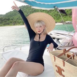 [HCM]Bikini Bodysuit liền mảnh cổ vuông có tay khoét lưng DÂY NGANG thumbnail