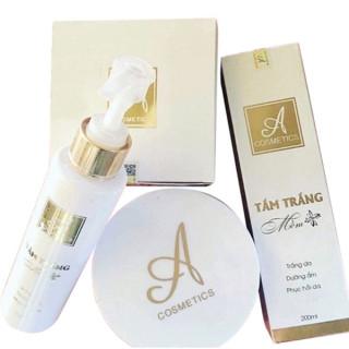 Combo sữa tắm trắng và kem body mềm A Cosmetics giúp dưỡng trắng da toàn thân siêu trắng hiệu quả nhanh chóng thành phần thiên nhiên an toàn không gây kích ứng thumbnail