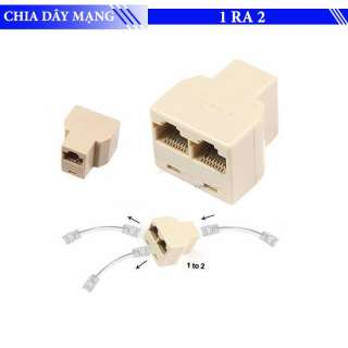 Đầu nối mạng RJ45 từ 1 ra 2 - Đầu chia dây mạng 1 ra 2