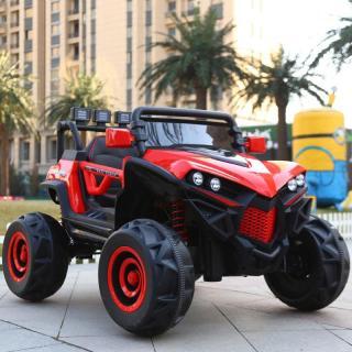 Ô tô xe điện siêu địa hình XJL-588 2 ghế 4 động cơ cho bé vận động đạp ga ( Đỏ -Trắng - Xanh) thumbnail