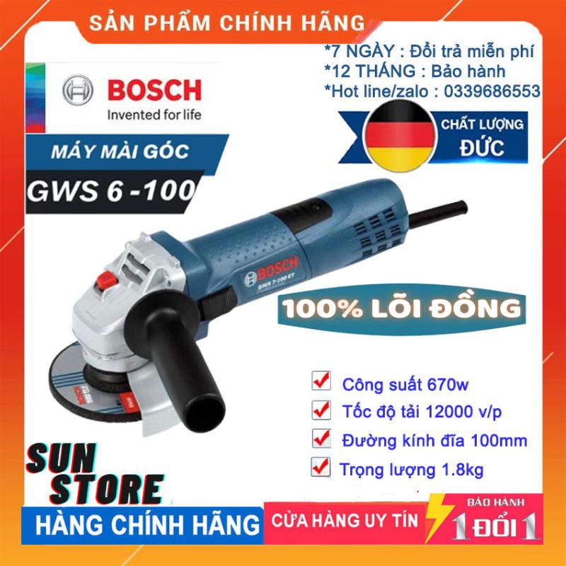 [ BÃO SALE  ]  Máy Mài Góc Máy Cắt B0SCH GWS 6-100 - 670W  - Máy mài cầm tay ,  Chuyên dùng để mài góc, cắt sắt , gỗ , gạch, đá trong gia đình hoặc công trình
