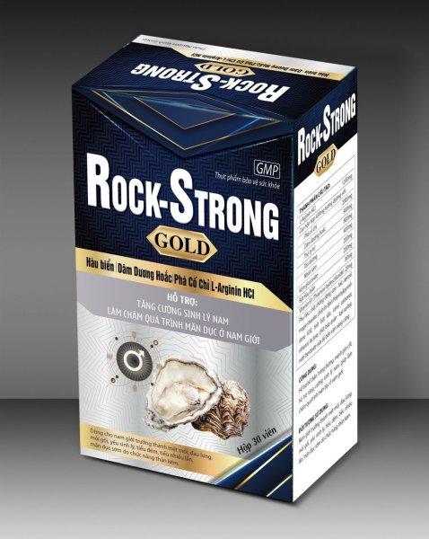 Hàu Biển Rock Strong Gold - Bổ Thận Tráng Dương , Tăng Cường Sinh Lý- Hộp 30 Viên- đen trắng cao cấp