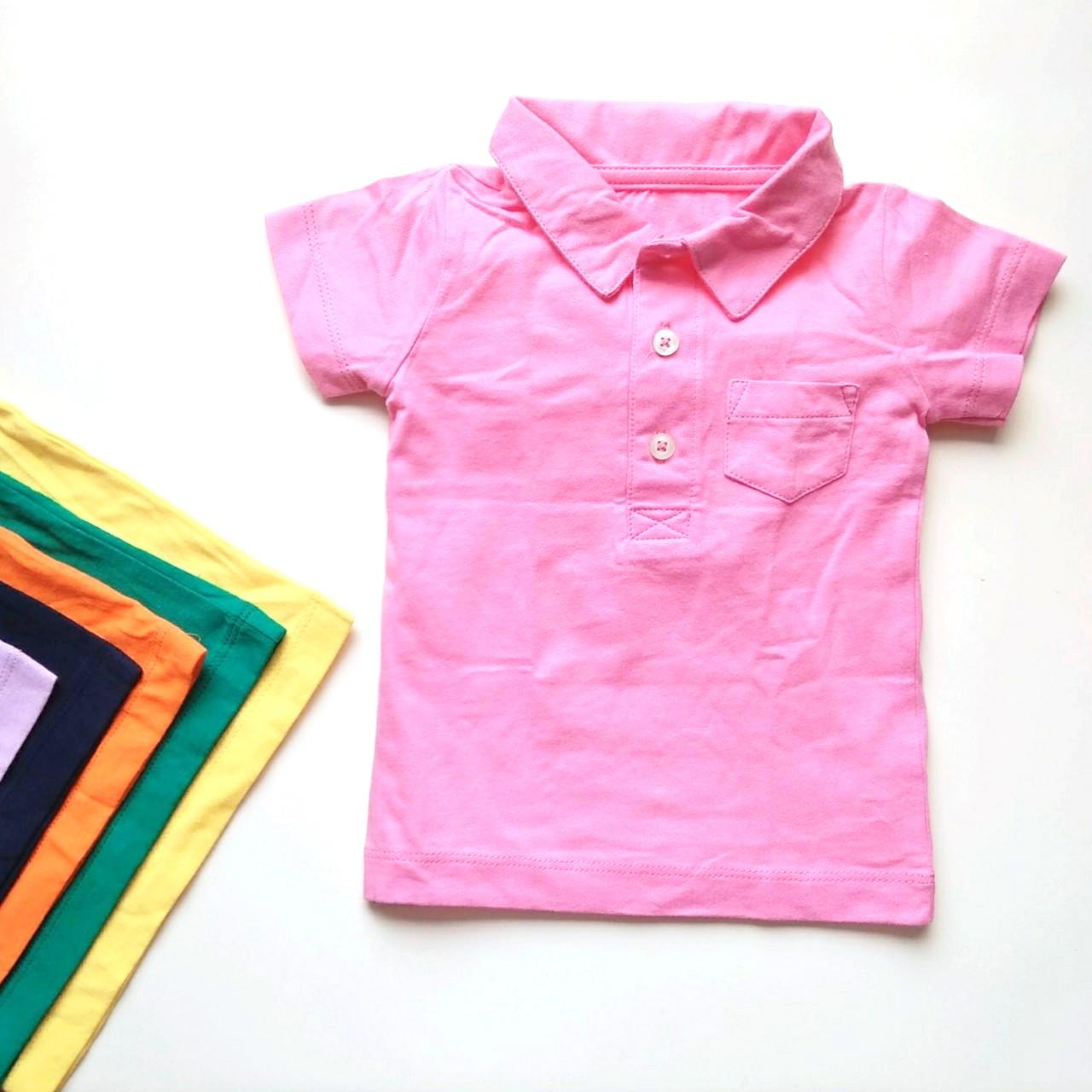 CHỌN MẪU Áo thun bé trai bé gái cổ đức mềm mát, bộ quần áo trẻ em kiểu polo xuất dư mùa hè cho bé