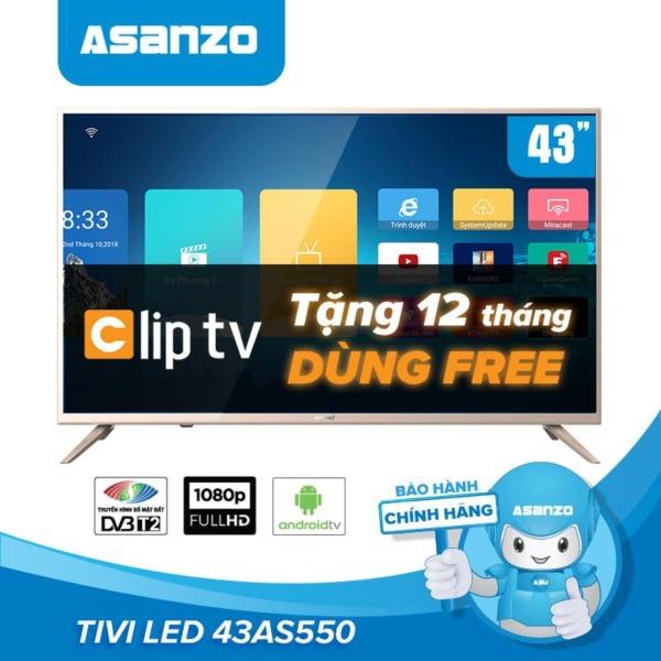 Bảng giá Smart Tivi Wifi LED Full HD 43 Inch Asanzo 43AS550 (Miễn Phí 12 Tháng ClipTV, Tích Hợp Tìm Kiếm Giọng Nói, DVB-T2, DVB-C) - Hàng Phân Phối Chính Hãng Bảo Hành 2 Năm Điện máy Pico