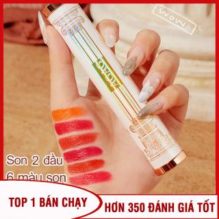 [Hàng độc] Son môi 6 màu AGAG son môi 2 đầu son nội địa Trung son lì có dưỡng son đổi màu son thỏi son 6 màu XP-SM271 thumbnail
