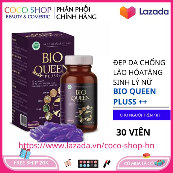 Hỗ trợ tăng cường nội tiết tố nữ, cải thiện sinh lý nữ Bio Queen Pluss ++ hộp 30 viên HSD 2023