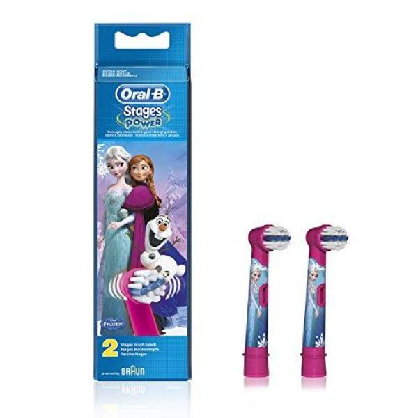 Vỉ 2 đầu bàn chải điện cho bé gái Braun Oral B Stages Kids Disney (Từ 5 tuổi trở lên)
