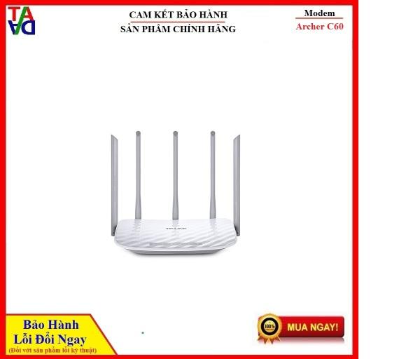 Bảng giá Bộ Phát Wifi TP-Link Archer C60 AC1350 - Router Wifi B/G/N/Ac 2.4ghz/5ghz Băng Tần Kép - Hàng chính hãng - Bảo hành 24 tháng 1 đổi 1 Phong Vũ