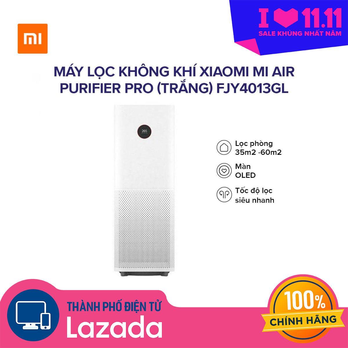 Máy lọc không khí Xiaomi Pro Mi Air Purifier (Trắng) FJY4013GL - Bộ lọc than hoạt tính loại bỏ mùi hôi và chất độc hại