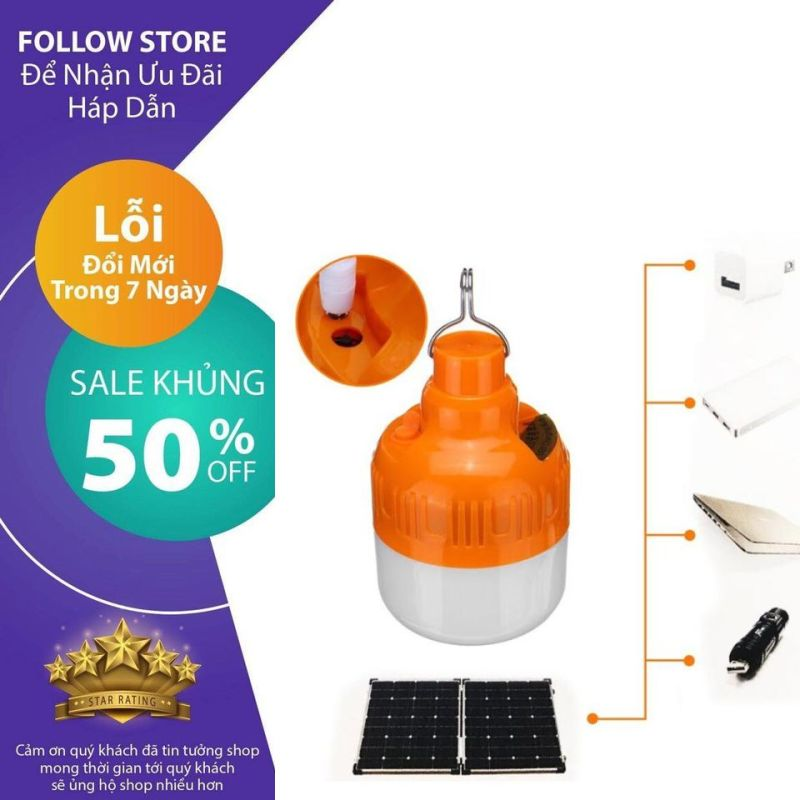 [ BÓNG LED HÀNG HOT TOP BÁN CHẠY 2020 ] Bóng đèn tích điện LED 30w 60w Sạc tích điện thông minh  cao cấp - Bóng đèn tích điện  (Loại TỐT) GIÁ RẺ
