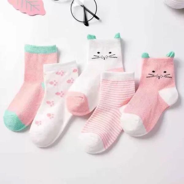 Giá bán (T7) Sét 5 đôi tất cotton hàng quảng châu -CAO CẤP chất dày dặn-cho bé từ 0-5 tuổi
