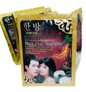 Gói Dầu Gội Nhuộm Đen Tóc Black Hair Shampoo Hàn Quốc - không mùi hôi, không bám da đầu và không gây hại cho da thumbnail