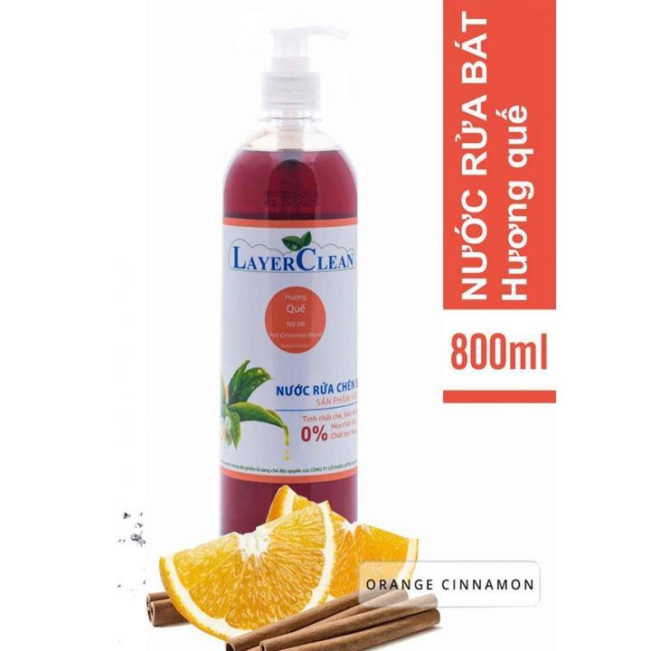 Nước rửa chén bát hữu cơ Hương Quế (800ml) Layer Clean