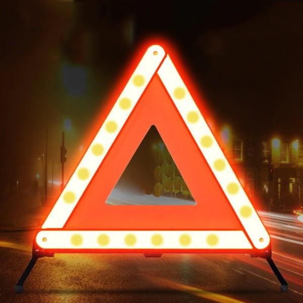 Biển phản quang cảnh báo xe ô tô gặp sự cố - hình tam giác 45*45cm di động đặt lòng đường