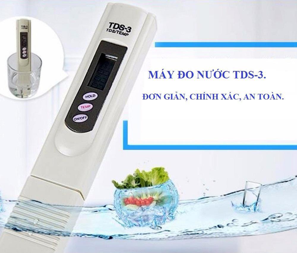 Máy Đo Kiểm Chất Lượng Nước TDS-3, Máy kiểm tra nước sạch hay bẩn, nước qua máy lọc có uống được không - bút đo độ sạch nước tds đẹp đa chỉ tiêu.