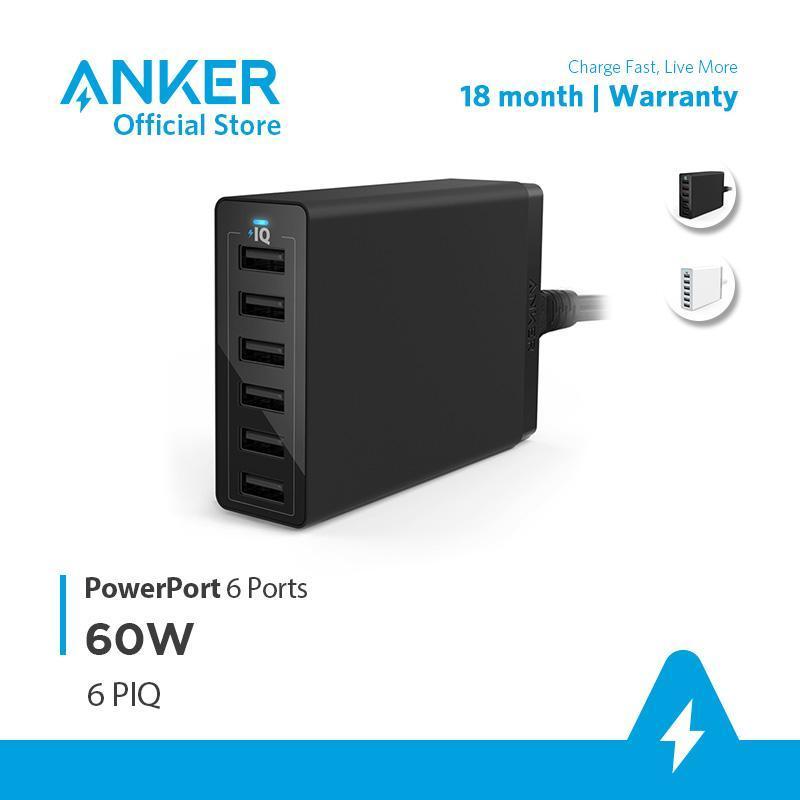 Sạc ANKER PowerPort 6 cổng PowerIQ 60W - A2123