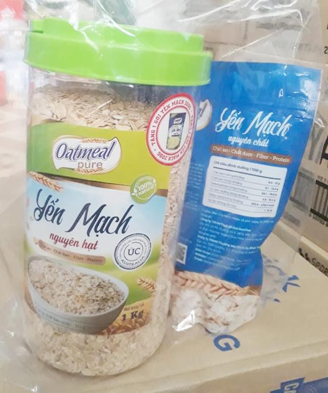 Yến mạch nguyên hạt Oatsmeal Pure 500g tặng gói 200g