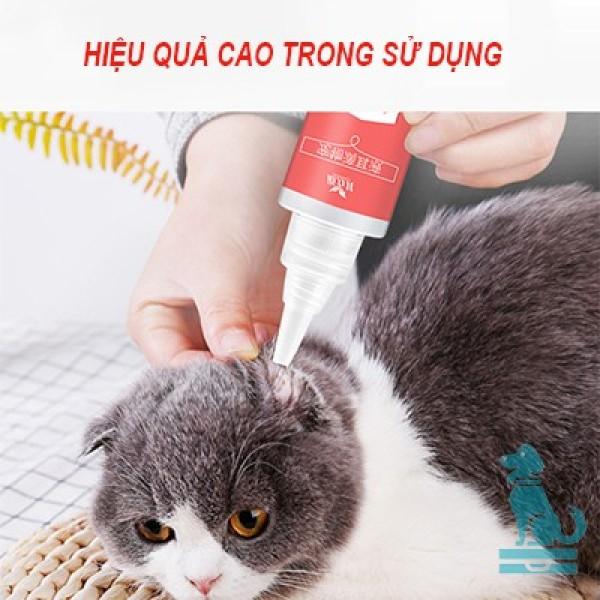 Dung dịch nhỏ tai vệ sinh loại bỏ viêm thối tai chó mèo Daoliqi 60ml diệt ve và vi khuẩn khử mùi hôi tai cho thú cưng