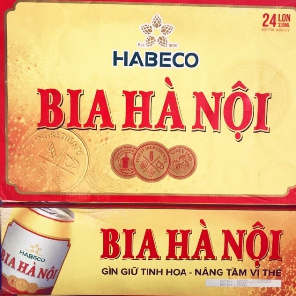 Thùng bia lon Hà Nội (24lon)