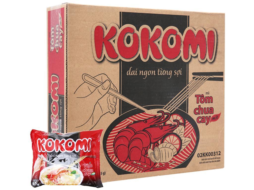 Mì Kokomi Tôm Chua Cay 65G (Thùng 30 Gói) Giá Sốc Nên Mua
