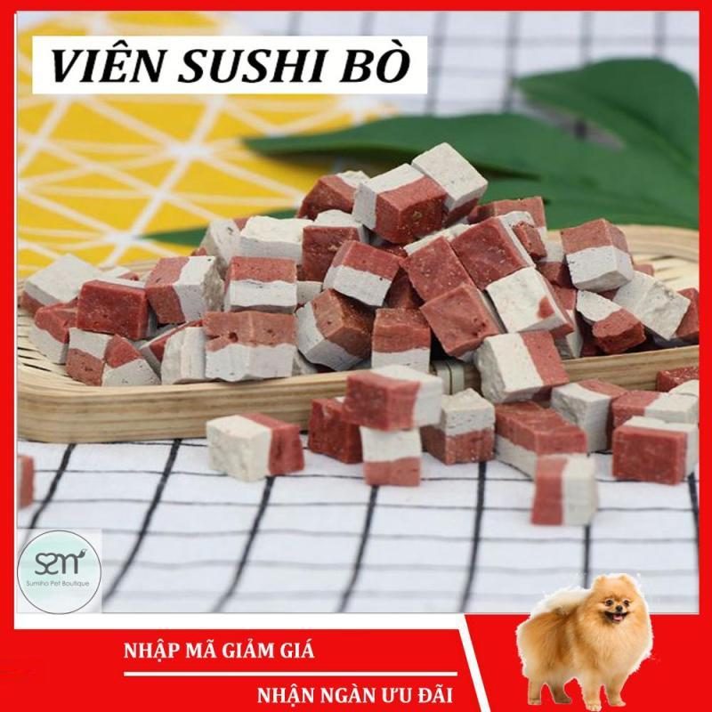 Bánh thưởng cho chó Sumiho (Viên sushi bò) (100gr/túi) Đồ ăn cho chó mèo thú cưng
