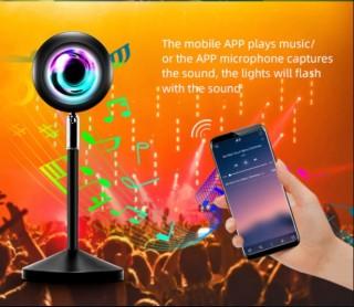 Đèn Sunset L11 điều khiển bằng app tzumi Led trên smartphone, nhiều chế độ nháy theo nhạc cực đẹp, Kết nối qua bluetooth, hẹn giờ phát sáng, Đèn hoàng hôn, chụp hình, decor, trang trí nội thất, quán cafe, quay video tiktok hot trend thumbnail