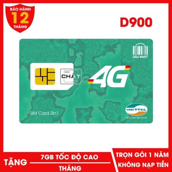 SIM DCOM Viettel 4G Trọn Gói 1 Năm D900 Với 7GB/Tháng