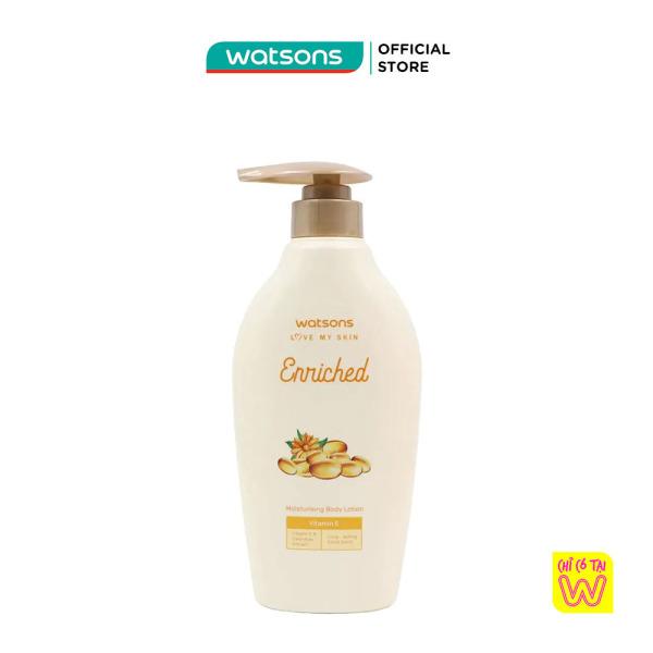 Sữa Dưỡng Thể Watsons Enriched Moisturising Vitamin E Cấp Ẩm Cho Làn Da Mịn Màng 400ml nhập khẩu